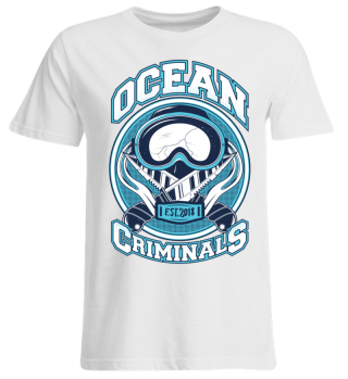 Ocean Criminals - Big Logo Blue