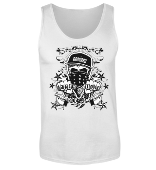 Herren Tank Top Hate Love BW Ramirez