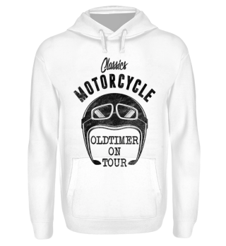 Motorcycle OLDTIMER ON TOUR black