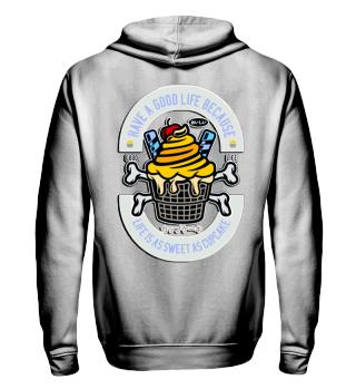 Herren Zip Hoodie Sweatshirt Cupcake Ramirez