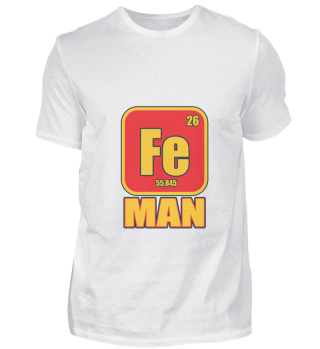 Iron Funny Man Costume Metal Element