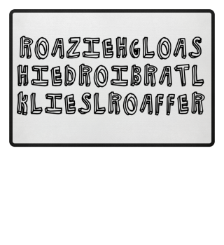 Oberlausitzer Mundart - Accessoires