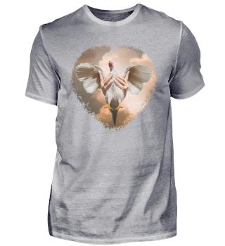 Hühnerliebe Chicken Love heart