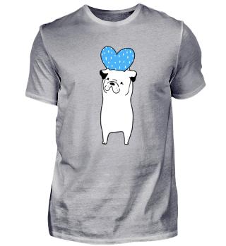Hund mit Liebesherz Valentinstag T-Shirt
