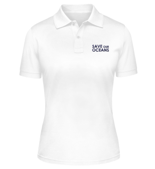 Save Our Oceans Polo-Shirt Stick