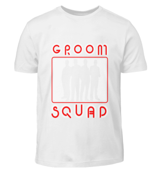 Groom Squad T-Shirt Guys Booze Party