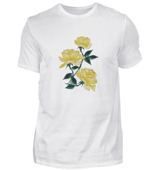 T-shirt with watercolor Yellow roses