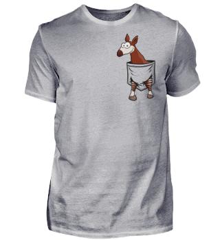 Okapi in Tasche Waldgiraffe Geschenk