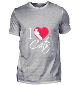D001-0003B I Love Cats / Ich liebe Katze