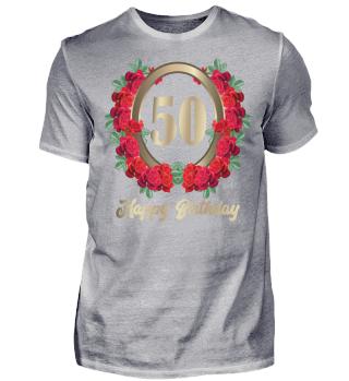 50. Geburtstag 50 Jahre Rosen Blumen