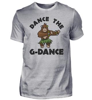 Gorilla Mädchen Dschungel Blumen tanzen