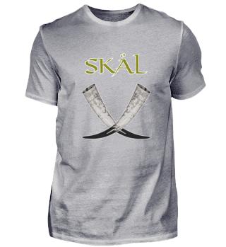 Skol Skål Wikinger Vikings Trinkhorn