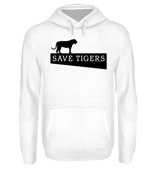 SAVE TIGERS - black
