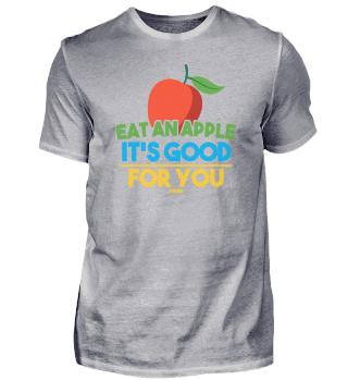 Apple saying fruit healthy gift