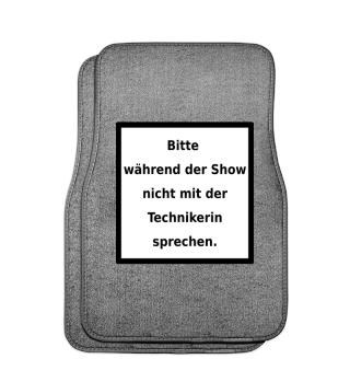 Warnhinweis Technikerin - lustig - VI