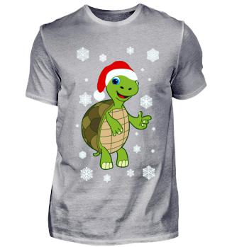 Weihnachten Schildkröte Santa Turtle