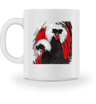 White crested mug becher mok