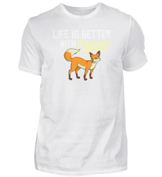 Red Foxes Gift Funny & Cute For Women &