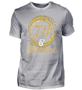 70. Geburtstag 70 Jahre Glitzer Fabulous