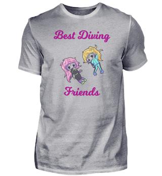 Beste Taucher Freunde Mädchen Geschenk