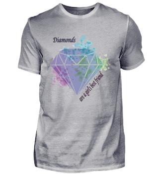 Diamonds a girls best Friend Geschenk