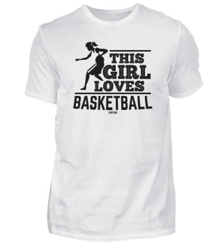 Girl loves basketball sports