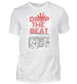 DROP THE BEAT by WOOF SHIRT (White)