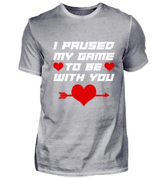 Valentinstag Gamer T-Shirt Geschenk