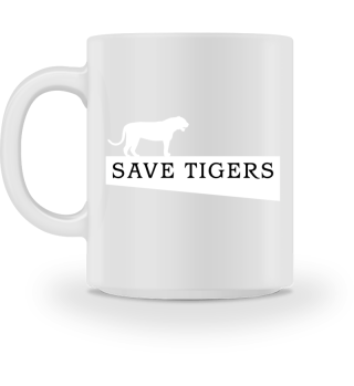 SAVE TIGERS - white