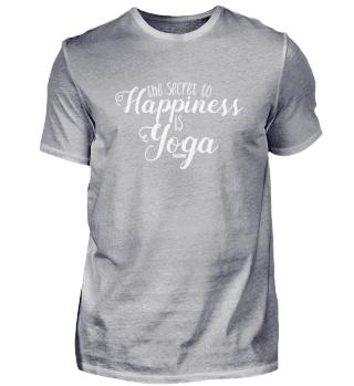Geheimnis Yoga glücklich Geschenk Spruch