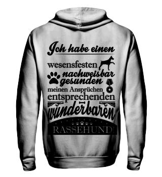 Rassehund, schwarz