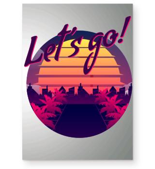 Lets Go Retro Vintage 80er Poster