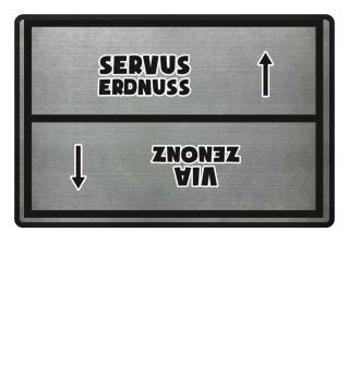 Servus Erdnuss Fußmatte