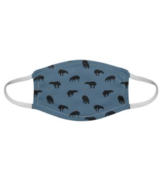 Tapir Silhouette Schattenriß Pattern