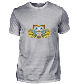 Owl art mandala owls eagle owl nocturnal
