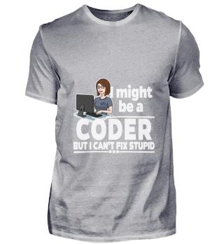 D001-0572A Female Coder Programmiererin