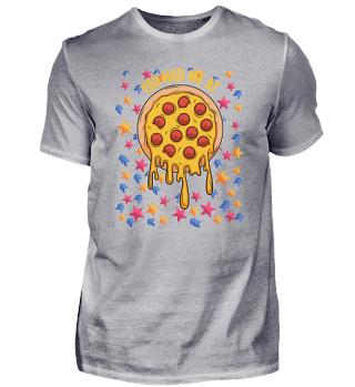 Pizza Sterne Himmel lustig Geschenk