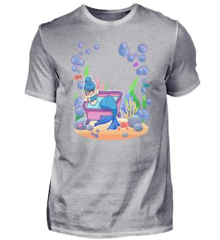 Meerjungfrau Mädchen Pool Wasser Nixe Ge