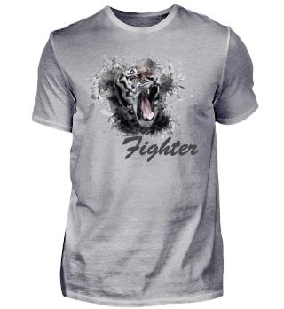Fighter Löwenmotiv - dunkel