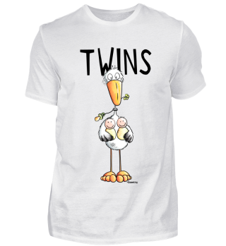 Twins Zwillinge Mit Storch I Schwanger