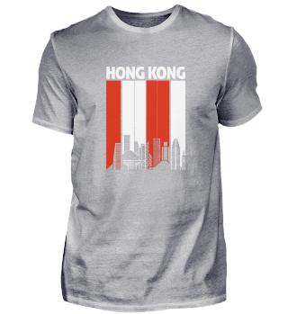 Hong Kong Skyline Skyscrapers Far East C