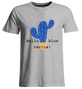 T Shirt Blue Cactus