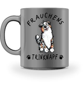 Frauchens Trinknapf Australian Shepherd