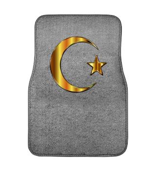 Türkei Flagge Fahne Gold Auto Matte