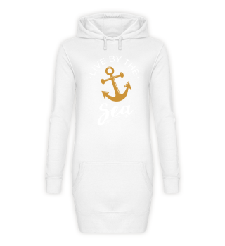 Live By The Sea Shirt Hoodie Damen Anker