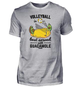 Avocado guacamole volleyball
