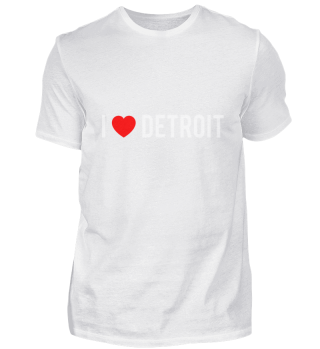 I Love DETROIT Pride Country T Shirt