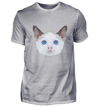 Ein Polygon Katzenkopf Zeichnung