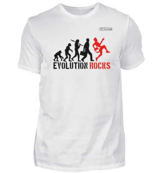 Herren Basic T-Shirt / Evolution Rocks