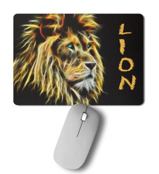 Mousepad Lion - Löwe mit Beschriftung
